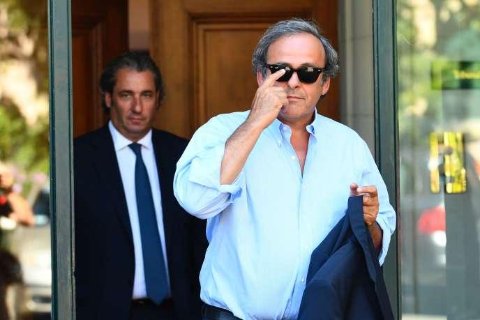 Michel Platini, le 25 août 2016, au Tribunal arbitral du sport de Lausanne.