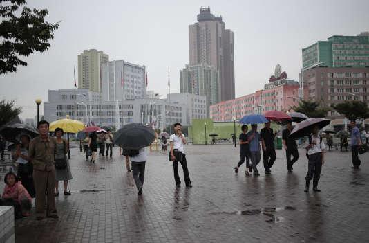 A Pyongyang, la capitale de la Corée du Nord, le 25 août.