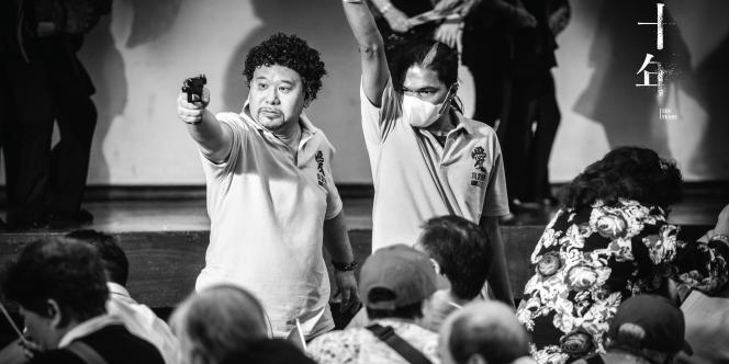 « Extras », de Kwok Zune, l'un descinq courts-métrages composant « Ten Years», un film militantqui explore les craintes des habitantssur le devenir de Hongkong dans dix ans.