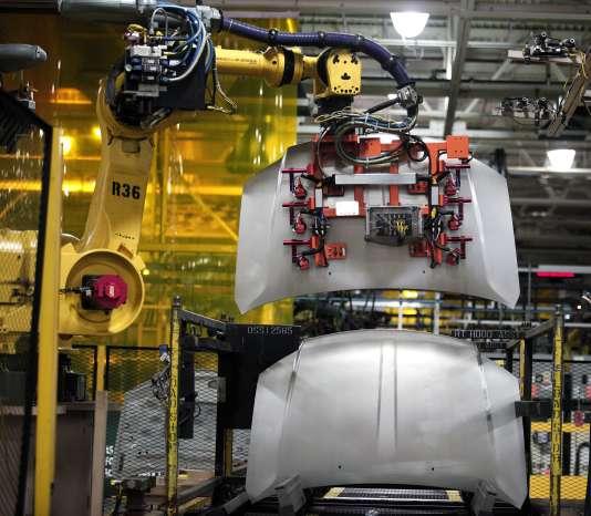 Le 26 août, dans une usine Fiat Chrysler à Sterling Heights, dans le Michigan.
