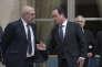 Francois Hollande et Michel Sapin, à l'Elysée, le21 mai 2015.