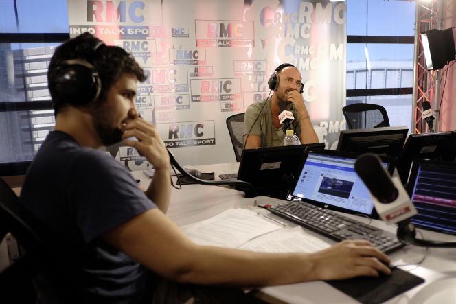 Christophe Dugarry dans les studios de RMC.
