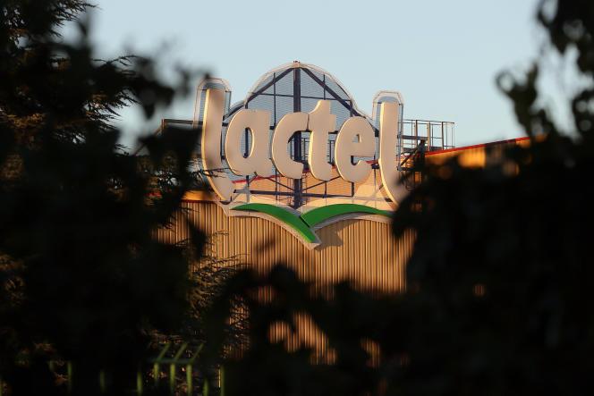Le siège du groupe laitier Lactalis, à Laval, le 22 août.