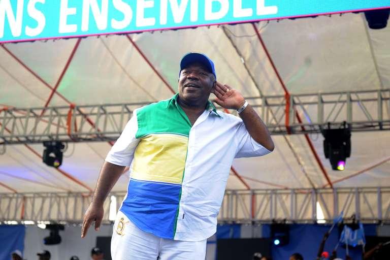 Ali Bongo, lors de sa campagne pour une réélection, à Libreville, le 26 août.