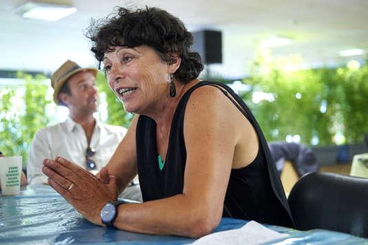 Michèle Rivasi, aux journées d'été d'EELV àLorient, le 25 août.