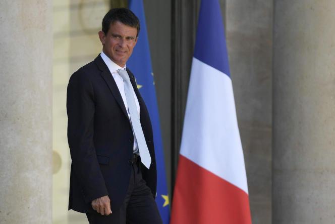 Manuel Valls à l'Elysee le 17 août.