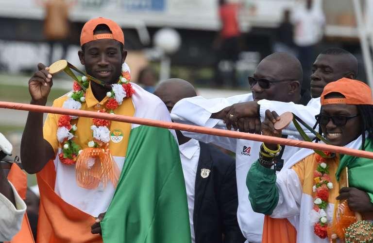 Cheick Cissé, le champion olympique de taekwondo à Abidjan, le 27 août 2016.