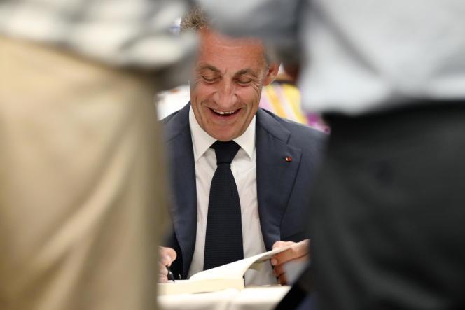 Nicolas Sarkozy le 27 août au Touquet.