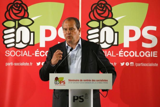 Le premier secrétaire du Parti socialiste, Jean-Christophe Cambadélis, le 28 août à Paris.