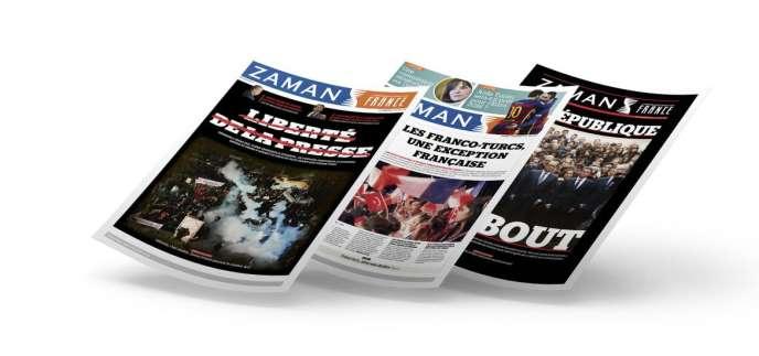 Des exemplaires de l'hebdomadaire« Zaman France».