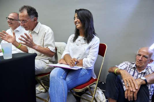 Karima Delli, lors d'un atelier sur les transports aux journéesd'été d'EELV à Lorient, le 26 août.