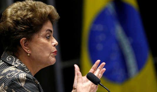 Dilma Rousseff, le 29 août 2016.