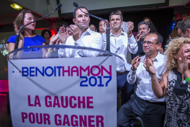 Benoit Hamon, candidat à la primaire à gauche, à Saint-Denis, dimanche 28 août.