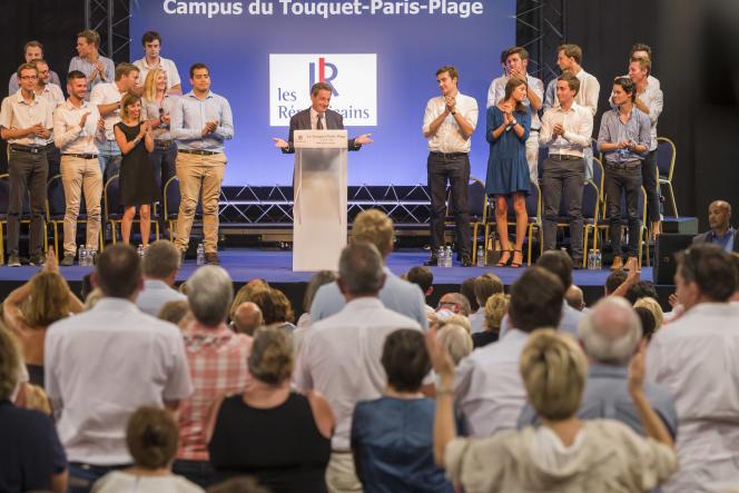 Nicolas Sarkozy au Touquet, le 27 août.