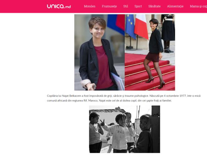 Sur la photo du dessous, la petite fille rom albanaise n'est pas non plus la ministre de l'éducation française.