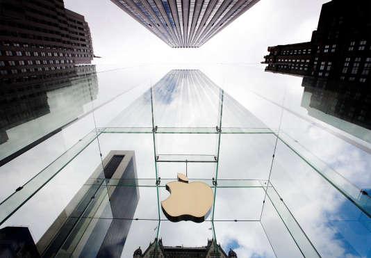 La devanture de l'Apple Store de la 5e avenue de New York.