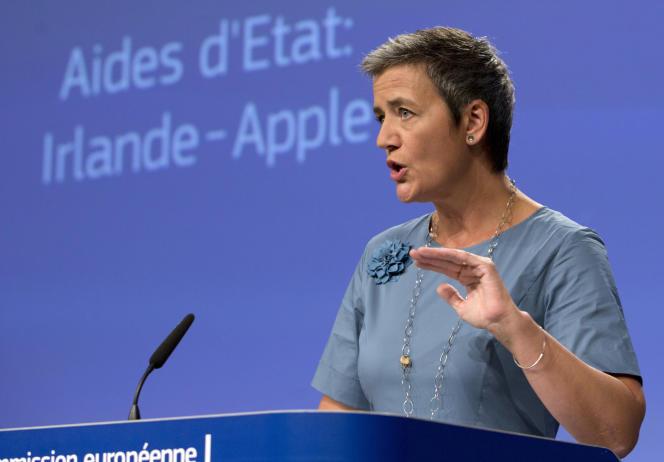 Margrethe Vestager, commissaire européenne à la concurrence, le 30 août, à Bruxelles.
