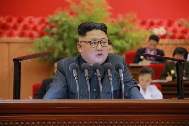 Le dirigeant nord-coréen, Kim jong-un, le 29 août à Pyongyang.