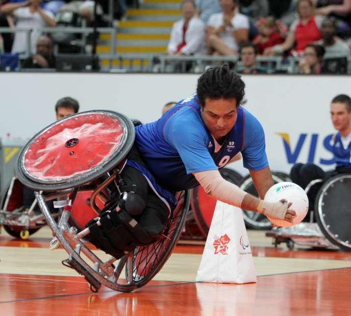 Ryadh Sallem, lors des Jeux paralympiques de Londres, en 2012.