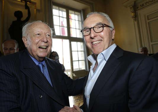 Frank McCourt et Jean-Claude Gaudin, à Marseille, le 29 août.