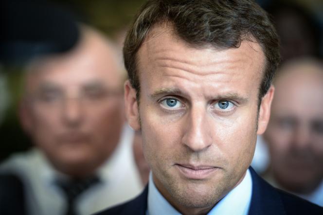 L'ancien ministre de l'économie Emmanuel Macron.