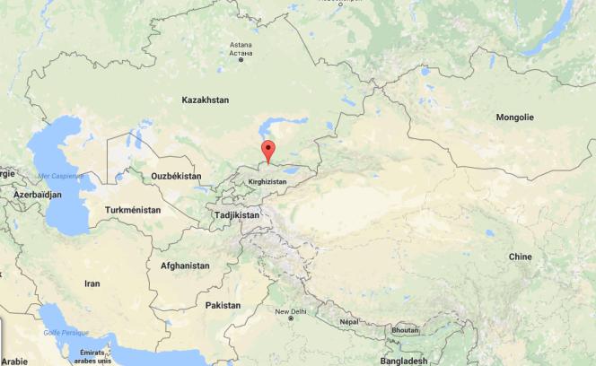 Carte de situation de Bichkek au Kirghizistan.