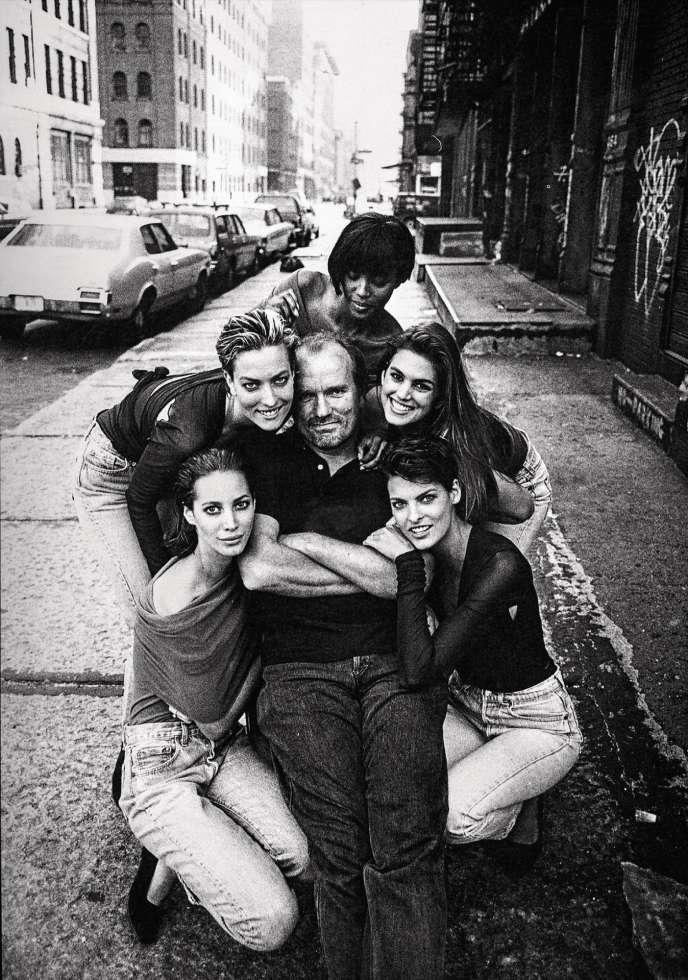 Peter Lindbergh a érigé Christy, Tatjana, Naomi,Cindy et Linda au rang de stars (ici, en 1990).