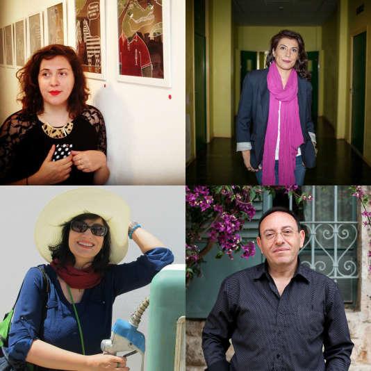 En haut à gauche Louison, en haut à droite Willis from Tunis, en bas à gauche Firoozeh, en bas à droite Kichka.