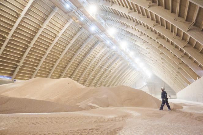 Site de stockage de potasse du groupe Potash Corp, près de Saskatoon, au centre du Saskatchewan (ouest du Canada).