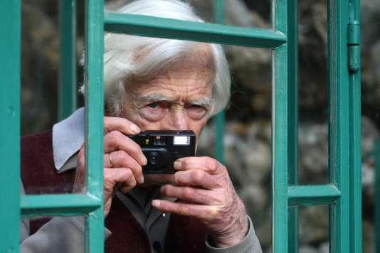 Le photographe français Marc Riboud au Musée de la vie romantique à Paris, en 2009.