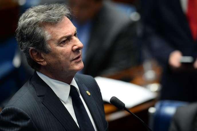 Le sénateur et ancien président brésilien, Fernando Collor de Mello, le 31 août, à Brasilia.