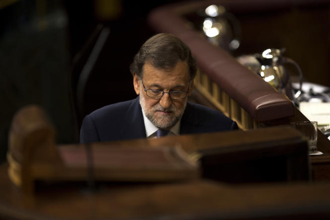 Mariano Rajoy, le 31 août au congrès des députés.