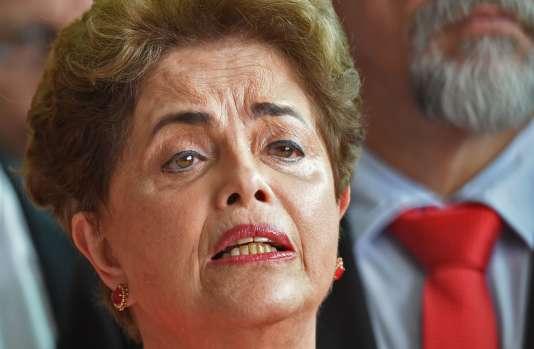 Dilma Rousseff, le 31 août, jour de sa destitution.