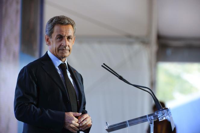 Nicolas Sarkozy, candidat à la primaire de la droite pour l'élection présidentielle 2017, le 31 août.