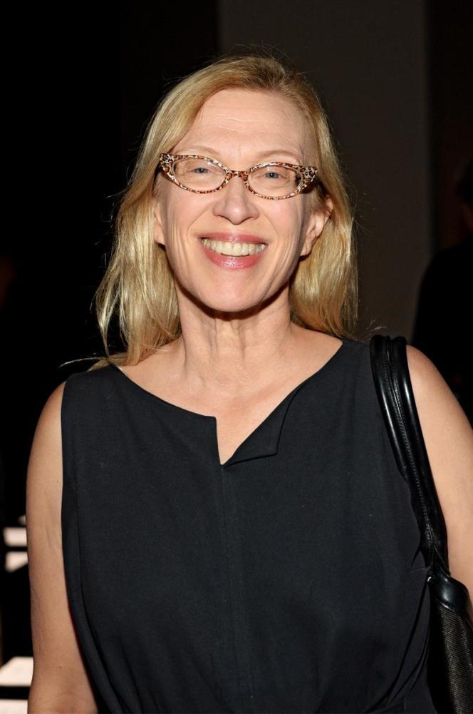 Valerie Steele historienne de la mode et conservatrice du Musée de la mode du Fashion Institute of Technology de New York, lors de la Fashion Week le 15 septembre 2015.