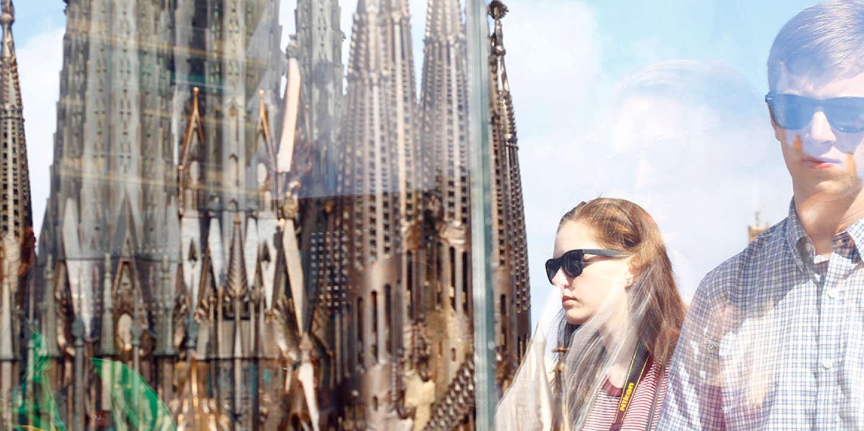 Scale model of Sagrada Familia