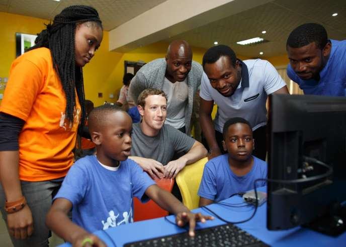 Marck Zuckerberg, le PDG de Facebook à Lagos (Nigeria) le 31 août 2016