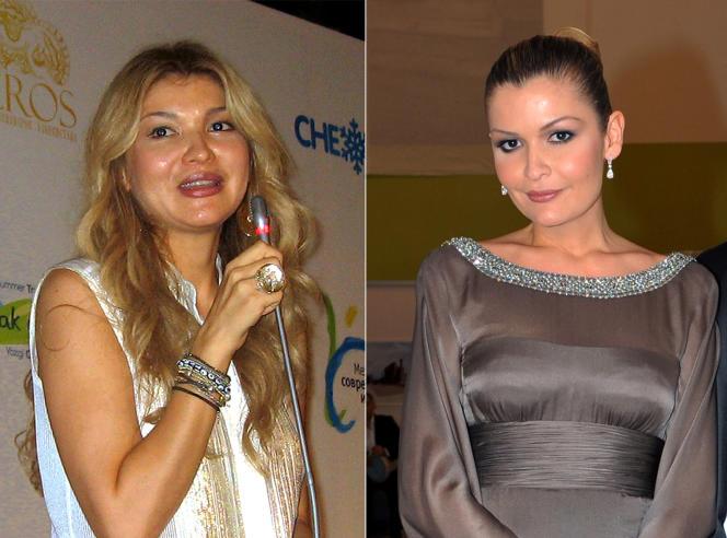 Gulnara Karimova en 2012 et sa soeur Lola Karimova-Tillaïeva, en 2009.
