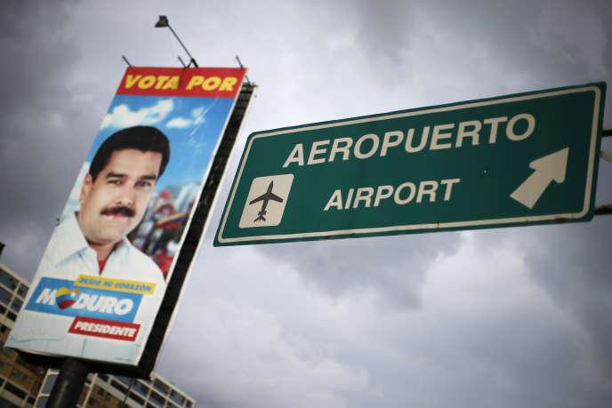 A l'aéroport international de Caracas, en 2013.