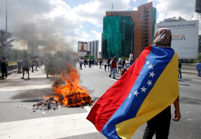 Un manifestant anti-Maduro, le 1er septembre, à Caracas.