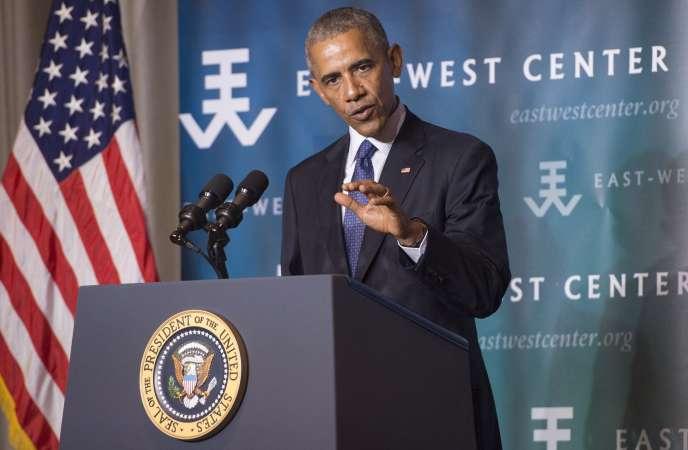 Barack Obama, le 31 août.
