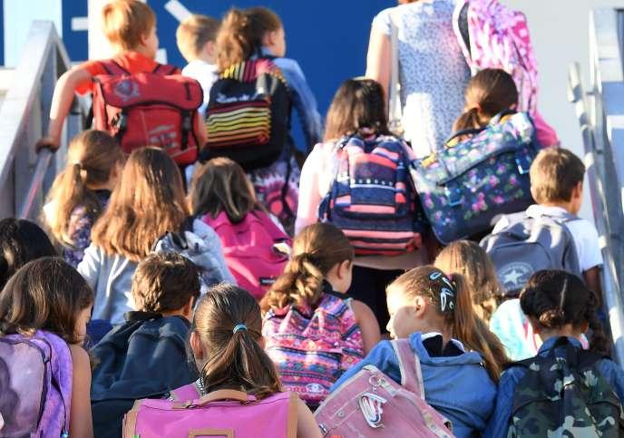Dans une école primaire de Bordeaux, le 1er septembre.