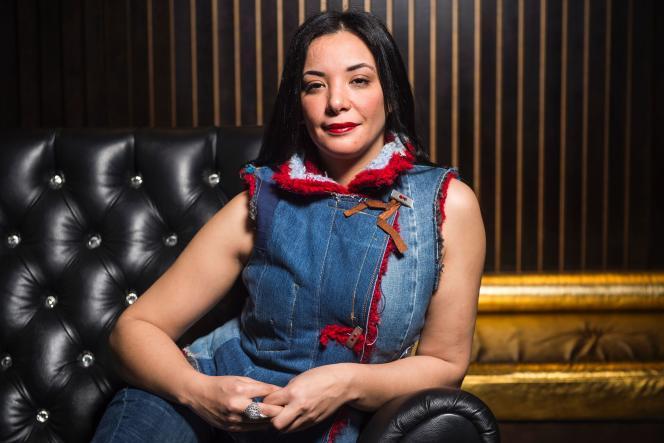 L'actrice marocaine Loubna Abidar, le 19 février 2016, à Paris.