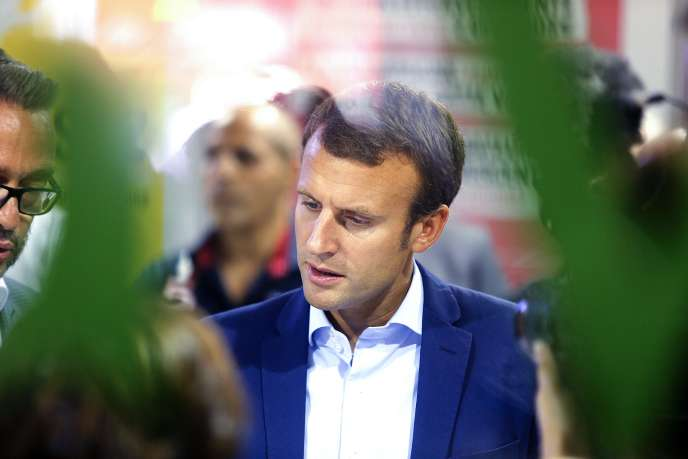 L'ancien ministre de l'économie Emmanuel Macron, le 1er septembre, à Châlons-en-Champagne.
