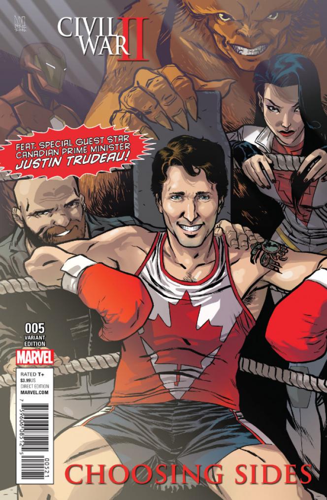 Justin Trudeau fait pour la première fois la couverture d'un comics.