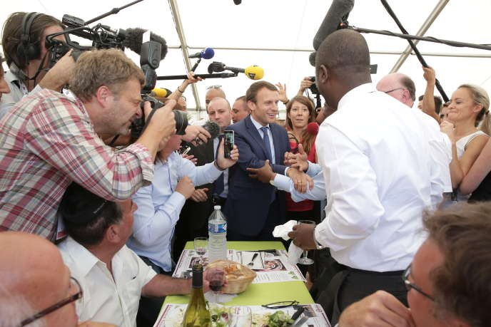 Emmanuel Macron à la foire de Châlons-en-Champagne, le 1er septembre.