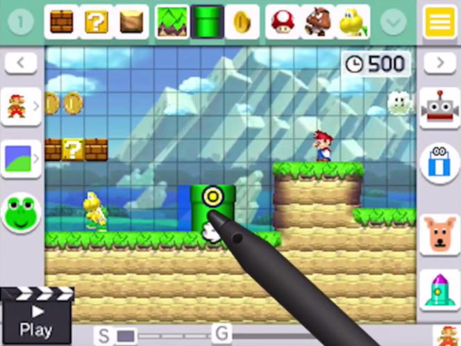 Super Mario Maker pour 3DS.