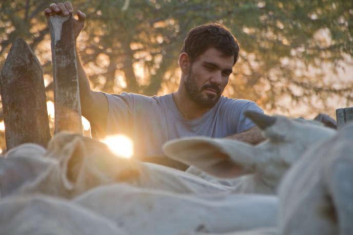 Juliano Cazarré dans le film brésilien, uruguayen et néerlandais de Gabriel Mascaro, «Rodéo» (« Boi Neon»), sorti en salles mercredi 28 septembre 2016.