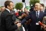 Emmanuel Macron et Alain Juppe à Villepinte le 16 juin 2016.