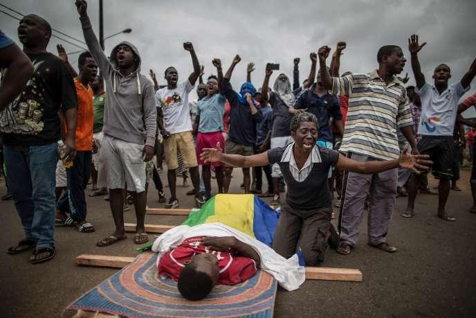 Le jeune Axel Messa, 28 ans, tué le septembre 2016 lors des affrontements avec les forces de l'ordre après la proclamation de la victoire d'Ali Bongo